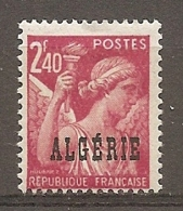 ALG - Yv.  N°  235  * 2f40  Iris  Cote  1  Euro BE 2 Scans - Algeria (1924-1962)