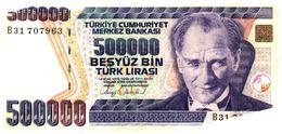 Billet >  Turquie   > 500000 Lirasi - Turkey