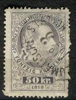 Autriche Österreich Austria 1873 - Oblitéré - Scanné Recto Verso - Y&T N° ?? - Franz Joseph Telegraphenmarken 50 Kr. - Oblitérés