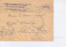 Cachet Centre Instruction Et De Transit Des Parachutistes Coloniaux 1955 - Marcophilie (Lettres)