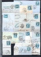 E42 Bel Ensemble De 29 Fragments Lettres N° 22a Bleu. Idéal étude Losanges GC Variétés Et Nuances ... Voir Commentaires - France