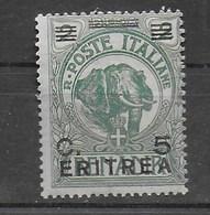ERITREA - 1922 - SOMALIA SOPRASTAMPATO - NUOVA - MH* (SASSONE 55 - YVERT 55 - MICHEL 58) - Eritrea