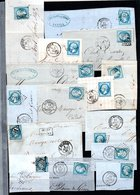 E43 Bel Ensemble De 29 Fragments Lettres N° 22a Bleu. Idéal étude Losanges GC Variétés Et Nuances ... Voir Commentaires - Collections