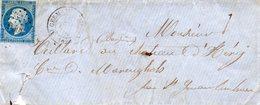St GERMAIN LEMBRON (62) Sur N°14 1 L.S.C. Du 26/10/59. - Postmark Collection (Covers)
