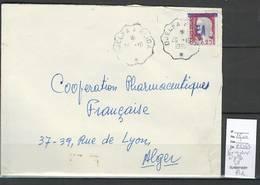 Algérie - Surchargé EA - Convoyeur Ligne - Djelfa A Blida - Algérie (1924-1962)