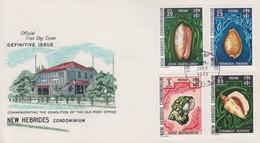 Enveloppe  FDC  1er Jour   NOUVELLES  HEBRIDES   Coquillages  1972 - FDC