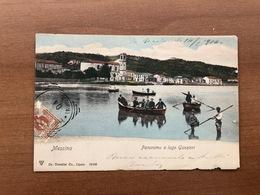 MESSINA  PANORAMA E LAGO GANZIRRI  1904 - Messina