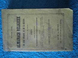 """Réunion : Rare Ouvrage De 1866 """"Almanach Religieux De L'Ile Bourbon"""" - Books, Magazines, Comics"""