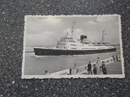 """OOSTENDE: De Mailboot """"Reine Astrid"""" - Dampfer"""