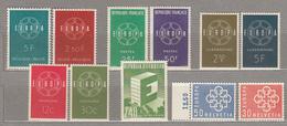 1959 EUROPA CEPT MNH (**) 5 Sets 11 Values CV 23 EUR #17467 - Europa-CEPT