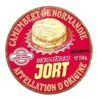 ETIQUETTE De FROMAGE..CAMEMBERT De NORMANDIE..Bernières JORT..B & Ph LEBOUCHER - Fromage