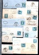 E44 Bel Ensemble De 26 Fragments Lettres N° 22a Bleu. Idéal étude Losanges GC Variétés Et Nuances ... Voir Commentaires - Collections