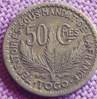 TOGO Frans Mandaat : SCHAARSE 50 CENTIMES 1924 KM 1 - Togo