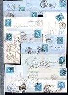 E45 Bel Ensemble De 58 Fragments Lettres N° 22a Bleu. Idéal étude Losanges GC Variétés Et Nuances ... Voir Commentaires - France
