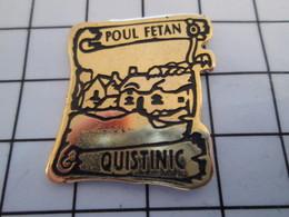 716c Pin's Pins / Beau Et Rare / THEME : VILLES / BRETAGNE PARCHEMIN VILLAGE MEDIEVAL POUL FETAN QUISTINIG - Villes