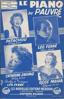 Partition De PATACHOU Léo FERRE Catherine SAUVAGE Rose MANIA - Le Piano Du Pauvre - Scores & Partitions