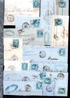 E46 Bel Ensemble De 57 Fragments Lettres N° 22a Bleu. Idéal étude Losanges GC Variétés Et Nuances ... Voir Commentaires - France