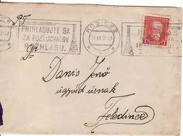 Czechoslovakia 1933, Cover Košice - Feledince /teraz Jesenské/ - Czechoslovakia