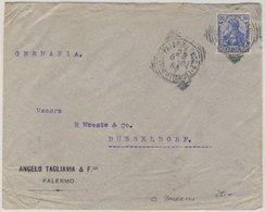 DR, 20 Pfg. Germania, Brief Palermo (!!) - Düsseldorf 1904 - Unbeanstandet U. - Germania