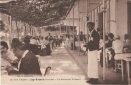 J20- 33) CAP FERRET (GIRONDE) LE RESTAURANT BELISAIRE - (TRES ANIMEE - 2 SCANS) - Autres Communes