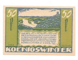 *notgeld Konigswinter  50 Pfennig  730.3b/ 1 Catalog Val 3,00 Euro - [11] Local Banknote Issues
