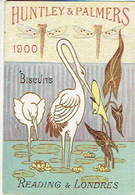 Chromo HUNTLEY & PALMERS - Calendrier 1900 - CIGOGNE - LIBELLULE - Snoepgoed & Koekjes