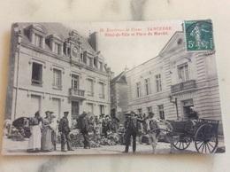 Sancerre.Hôtel-de-Ville Et Place Du Marché. - Sancerre