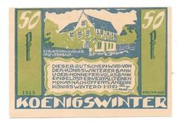 *notgeld Konigswinter  50 Pfennig  730.3b/ 2   Catalog Val 3,00 Euro - [11] Local Banknote Issues