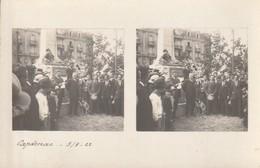 CARTE PHOTO STEREOSCOPIQUE CAPDENAC GARE Inauguration Monuments Aux Morts ? 3/9/22 - France