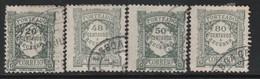 PORTUGAL - Timbres TAXE N°33+38+39+42 Obl (1922-27) - Port Dû (Taxe)