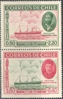 M1622 ✅ Transport Ships 1940 Chile 2v Set MNH ** 10ME - Ships