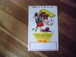 """Buvard """" Perette Et Le Pot Au Lait """" Illustrateur Dagobert Matelas """"Matfa"""" Fables De La Fontaine Parfait état - Buvards, Protège-cahiers Illustrés"""