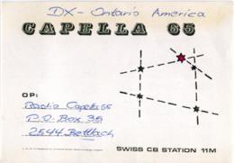 QSL RADIO BETTLACH  CAPELLA 65  SWISS CB STATION 11M  1977 - Radio Amatoriale