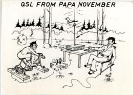 QSL RADIO DÜSSELDORF  From PAPA NOVEMBER  1977 - Radio Amatoriale