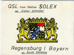QSL RADIO REGENSBURG  SOLEX  1977 - Radio Amatoriale