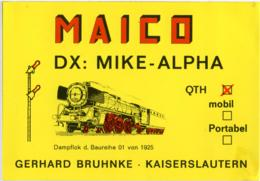 QSL RADIO KAISERSLAUTERN  MAICO  MIKE-ALPHA  1977 - Radio Amatoriale
