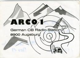 QSL RADIO AUGSBURG  ARCO 1 - Radio Amatoriale