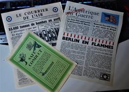 Rare Lot De 3 Documents Authentiques WWII Safe Conduct  Débarquement De Normandie Courrier De L'air Et L'Amérique En Gue - 1939-45