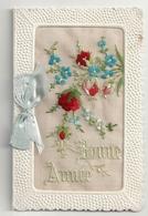 Carte Brodée Bonne Année (carte Qui S'ouvre En 2 Volets) - Holidays & Celebrations