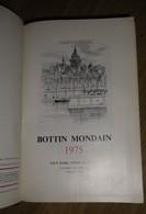 BOTTIN MONDAIN 1975 TOUT PARIS TOUTE LA FRANCE - Noblesse - Jet Set - Grandes Familles - Généalogie - - Woordenboeken