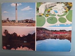 Carte Postale : République Du ZAIRE, LUBUMBASHI : Cheminée  Gecamines, Maquette Hôtel La Président, Le Zoo, Carrière - Lubumbashi