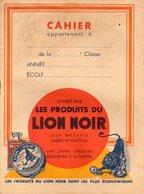 CAHIER AVEC COUVERTURE ILLUSTREE PRODUITS LION NOIR - Buvards, Protège-cahiers Illustrés