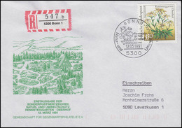 1509 Rennsteiggarten Edelweiß EF R-FDC ESSt Bonn Natur- & Umweltschutz 12.3.1991 - Altri
