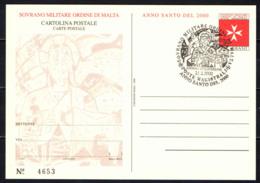 SMOM - 2000 - ANNO SANTO 2000 - CARTOLINA POSTALE - ANNULLO PRIMO GIORNO - FDC - Malte (Ordre De)