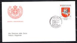 SMOM - 2000 - CONVENZIONE POSTALE CON LA LITUANIA - FDC - Sovrano Militare Ordine Di Malta