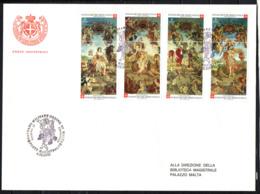 SMOM - 2000 - ANTICHI ARAZZI FIAMMINGHI DELLA BOTTEGA DI VON SCHOOR (XVII SECOLO) - FDC - Sovrano Militare Ordine Di Malta