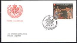 SMOM - 2000 - DECOLLAZIONE DEL BATTISTA - DIPINTO DI ANTON ANGELO BONIFAZI - FDC - Sovrano Militare Ordine Di Malta