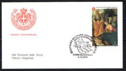 SMOM - 2000 - NATALE: ADORAZIONE DEI PASTORI - DIPINTO DELLA SCUOLA DI LUCA SIGNORELLI - FDC - Sovrano Militare Ordine Di Malta