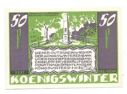 *notgeld Konigswinter  50 Pfennig  730.4b/ 8   Catalog Val 2,00 Euro - [11] Local Banknote Issues