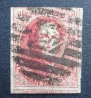 BELGIE  1861   Nr. 12   P 45   8 Baren / Ruime Gebuur   Zie Foto     Gestempeld  CW 90,00 - 1858-1862 Medallions (9/12)
